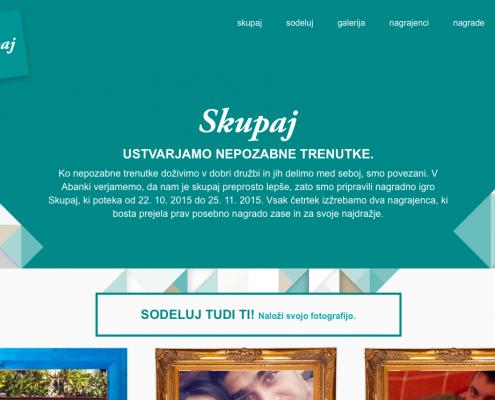 Internetna stran Skupaj